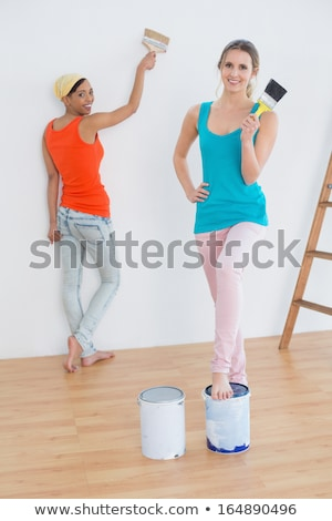 DIY enthusiast with paint can and brush Stock photo © photography33