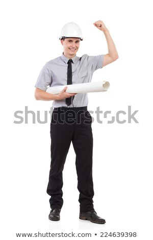 Architect holding rolled plan under arm Stock photo © photography33