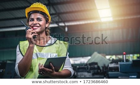 Foreman using radio receiver Stock photo © photography33