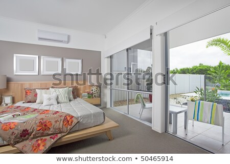 master bedroom in modern townhouse Stock photo © epstock