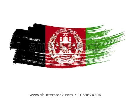 Afganisztán zászló ikon izolált fehér internet Stock fotó © zeffss