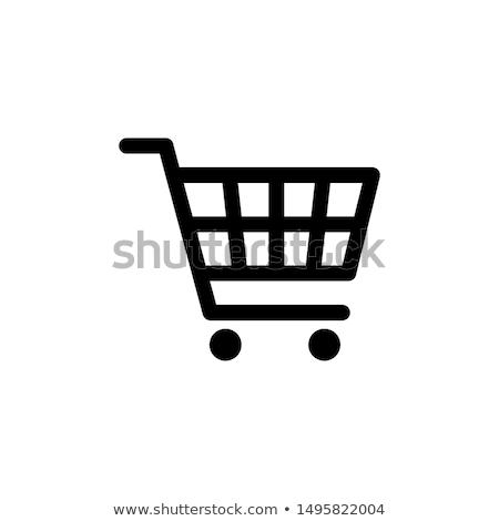 Bevásárlókosár kerekek aszfalt út piac áruház Stock fotó © stevanovicigor