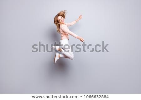 成功した · 女性 · ポーズ · 腕 - ストックフォト © stockyimages