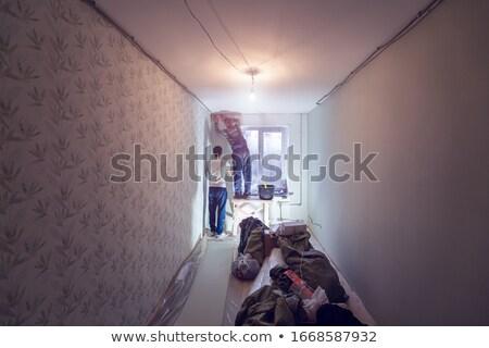 художника · скалолазания · вверх · лестнице · лице · строительство - Сток-фото © photography33