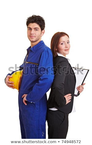businesswoman and craftsman standing back to back Stock photo © photography33