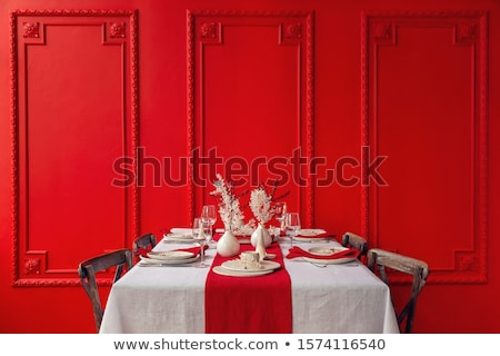 Dinner Plate Dinning Room Interior Stock photo © cr8tivguy