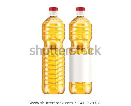 Citromsárga napraforgóolaj műanyag üveg étel üveg Stock fotó © ozaiachin