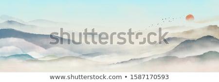 Mountain Painting Stock photo © THP