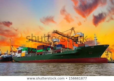 Cargo ship in Holland Stock photo © ivonnewierink