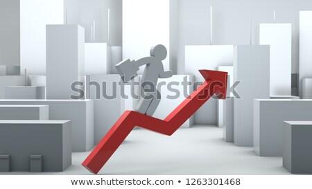 empresário · trancado · pasta · africano · americano · terno - foto stock © get4net