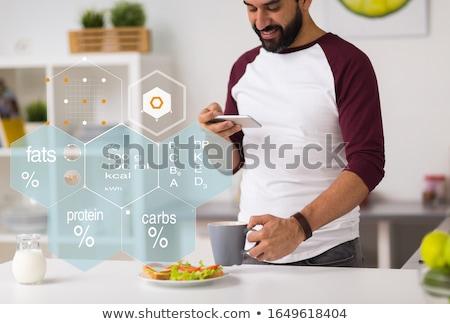 Man having breakfast Stock photo © photography33
