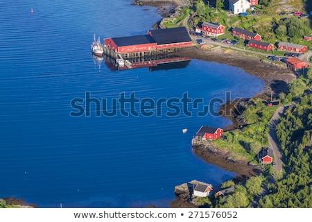 Turistaövezet szigetek Norvégia Európa város hely Stock fotó © Harlekino