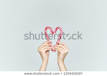 piros · fehér · cukorka · digitális · karácsony · ünneplés - stock fotó © inxti