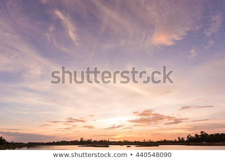 Nehir gökyüzü akşam su doğa Stok fotoğraf © sweetcrisis