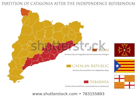 Map of Catalonia (Spain) Stock photo © Schwabenblitz