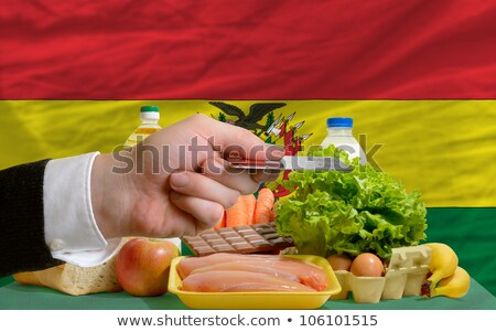 Buying Groceries With Credit Card In Bolivia Foto stock © vepar5