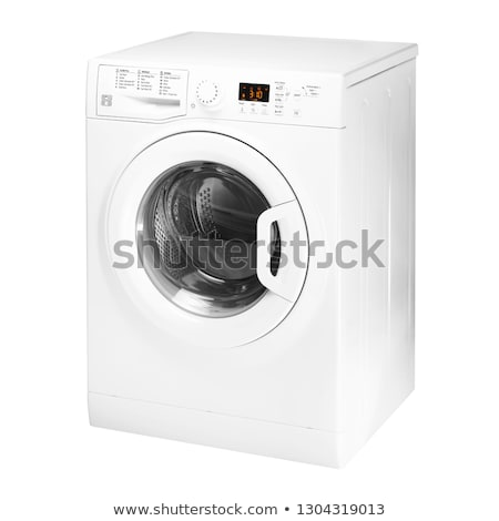 Isolated washing machine on a white background Stock photo © ozaiachin