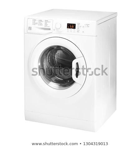 bianco · lavatrice · macchina · clean · lavanderia · abbigliamento - foto d'archivio © ozaiachin