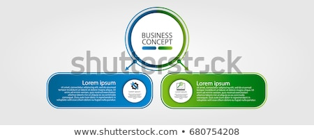 Abstract blue business symbol with 2 elements Stock photo © MONARX3D