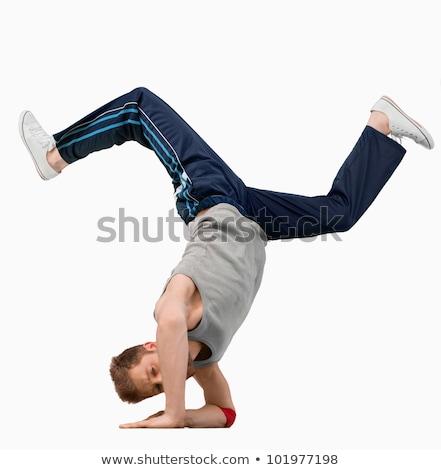 перерыва · танцовщицы · стороны · стоять · белый · Dance - Сток-фото © wavebreak_media