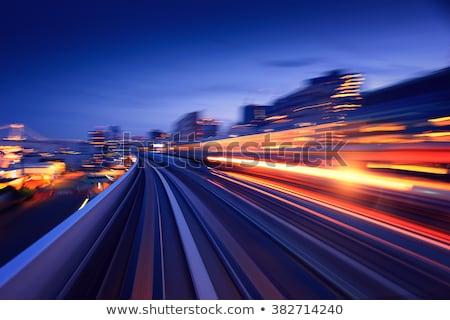 Forgalom modern város fény sín épület Stock fotó © kawing921