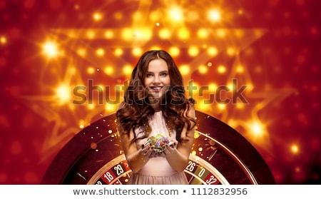 Kadın yonga rulet tablo kumarhane Stok fotoğraf © wavebreak_media