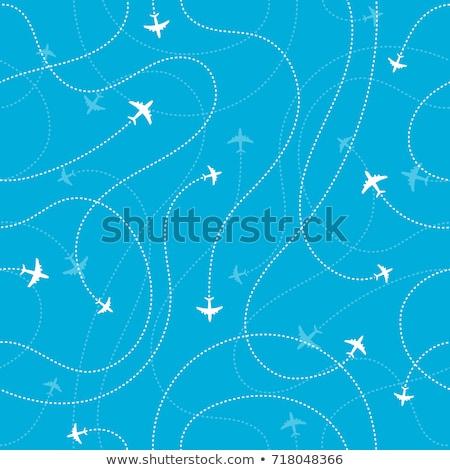 Vliegtuig vector poster hemel ruimte web Stockfoto © krabata