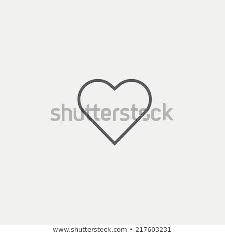 vektör · ikon · kalp · çapraz - stok fotoğraf © zzve