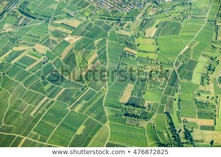 aerial landscape view in rural Eiffel area in Germany Stock photo © meinzahn