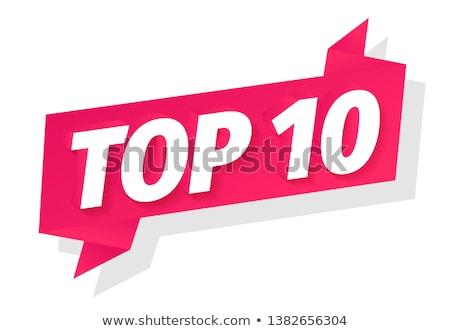 top · 10 · grünen · Tafel - stock foto © matteobragaglio