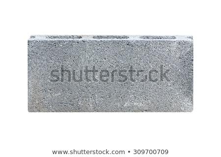 Gri beton tuğla el yapımı satış Stok fotoğraf © rhamm