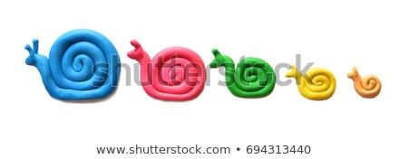 vicces · játék · arc · kézzel · készített · fehér · nagy - stock fotó © lunamarina