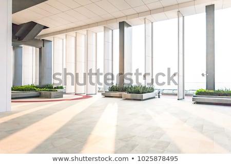 空っぽ 現代 ロビー 壁 ホテル アーキテクチャ ストックフォト © zzve