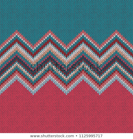 Knit woolen texture. Fabric blue background Stock photo © shutswis