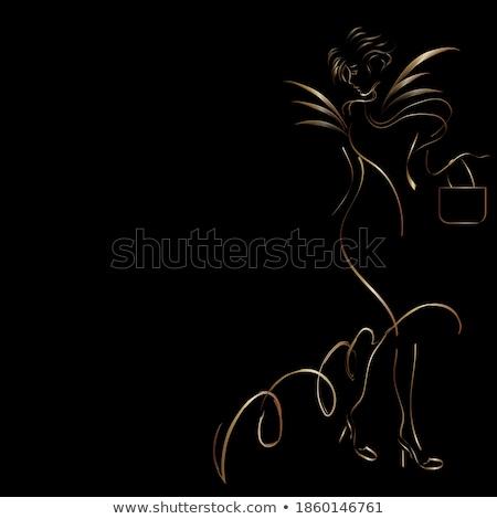 Güzel genç kadın beyaz gri Stok fotoğraf © evgenyatamanenko