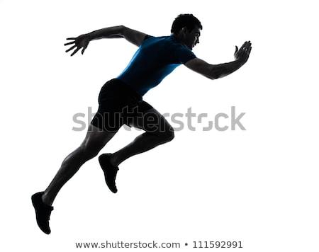 fekvőtámaszok · testmozgás · stúdiófelvétel · fehér · fitnessz · férfi - stock fotó © stepstock