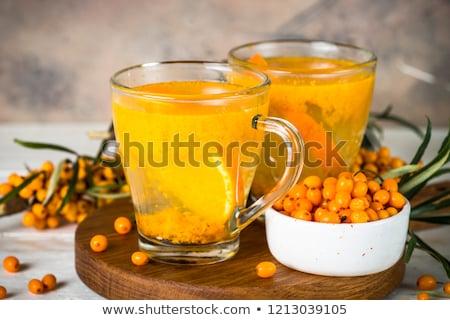 Bebida quente vidro inverno chá coquetel Foto stock © inxti