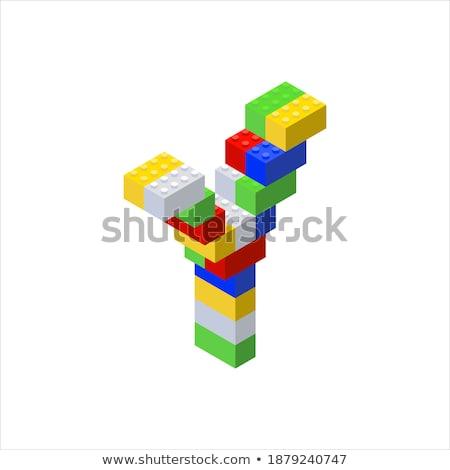 Letter Y on Childrens Alphabet Block. Stock photo © tashatuvango