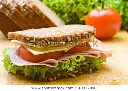 Fresh wholemeal sandwich Stock photo © raphotos