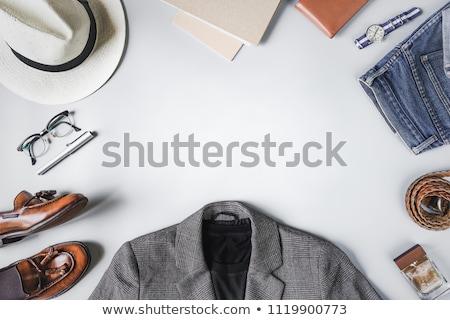 愛 · カップル · 革 · 服 · ファッション · ポーズ - ストックフォト © feedough