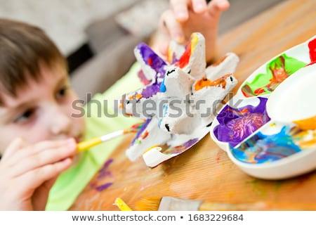 девушки · Живопись · мало · ребенка · весело - Сток-фото © fotoyou