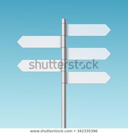 Blank crossroad signpost Stock photo © burakowski