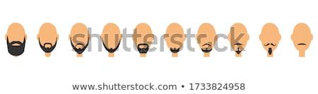 Homem cavanhaque barba retrato nu perfurante Foto stock © courtyardpix