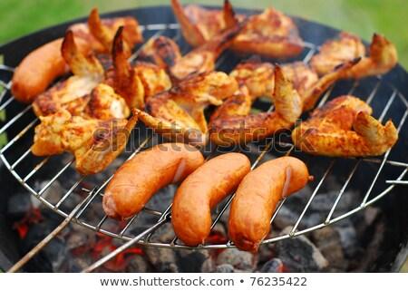 cottura · succosa · pollo · ali · esterna - foto d'archivio © anmalkov