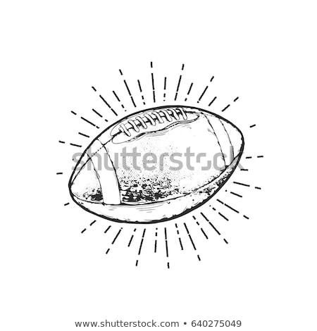 Kroki amerikan futbol vektör bağbozumu el Stok fotoğraf © kali