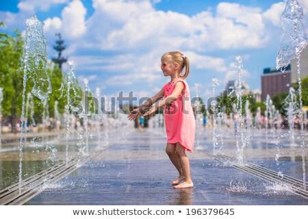 Cute ragazza caldo giorno estate Foto d'archivio © OleksandrO