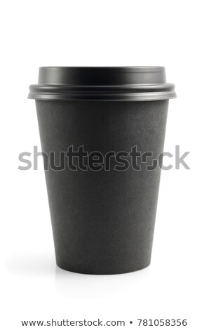cup of black coffee on the desk Stock photo © mizar_21984