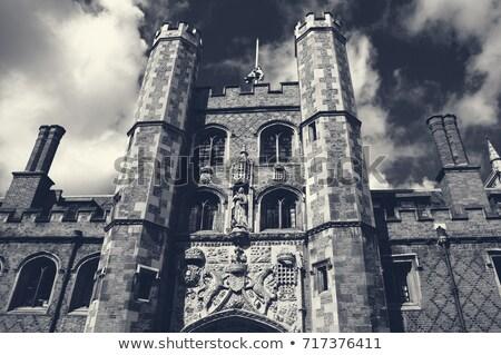 Faculdade cambridge edifício retro ilustração universidade Foto stock © patrimonio
