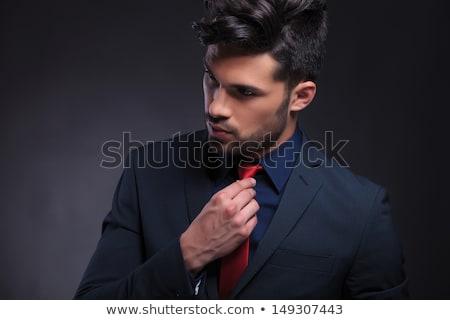 男 · 赤 · あごひげ · 髪 - ストックフォト © feedough
