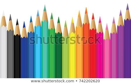 The pencil fence Stock photo © flipfine